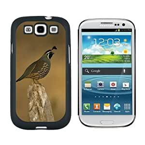 California Quail - Bird - Snap On Hard Protective Case for Samsung Galaxy S3 - Black by ruishername