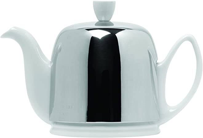 Guy Degrenne Salam Jade 6 Cup Teapot with Stainless Steel Cover 36 Ounces