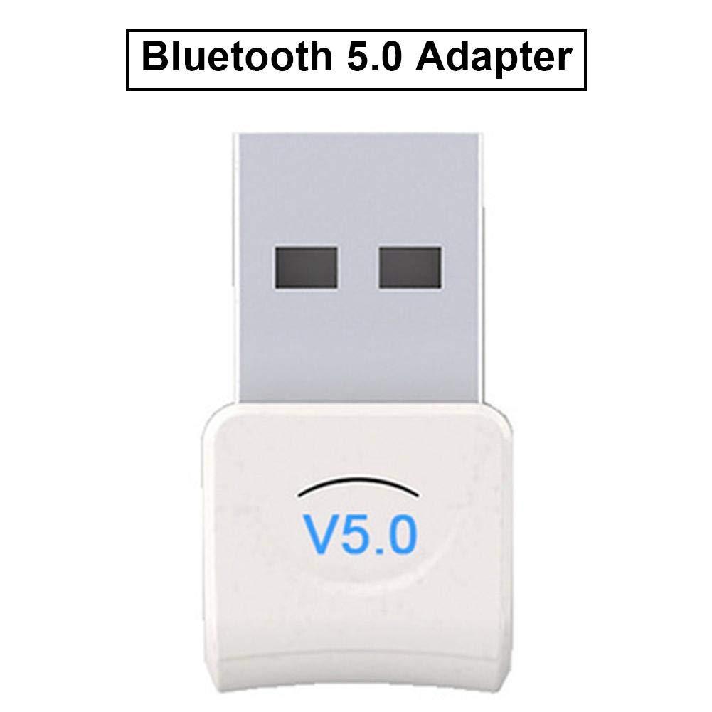 Biggystar Adaptador Bluetooth 5.0USB Computadora de Escritorio Adaptador inal/ámbrico transmisor de Receptor de Audio WiFi Transmisor computadora PC Rat/ón PS4 Altavoz de Audio Auxiliar