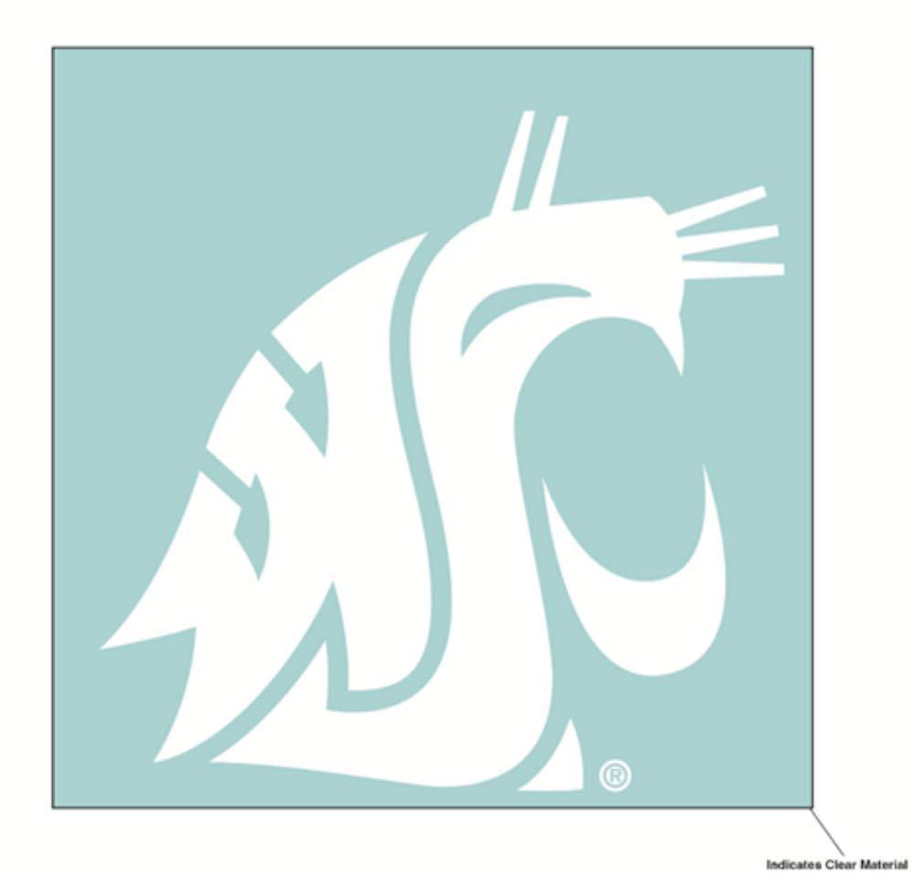 Wincraft NCAA Washington State University WSU Cougars 6 x 6 Inch White Decal