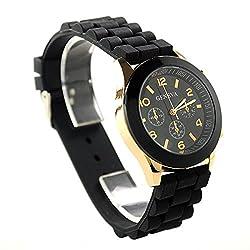 GENEVA Women Watch - Hot Trendy Silicone Band Luxury Beautiful Lady Dress Wristwatch