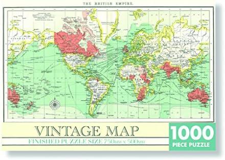 Unbekannt Puzzel Vintage World Map 1000 st. Jigsaw rechthoekig ...