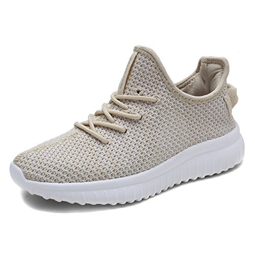 DREAM PAIRS Women's Pilot-W Beige Athletic Sneakers Lightweight Breathable Mesh Walking Gym Running Shoes11 M US