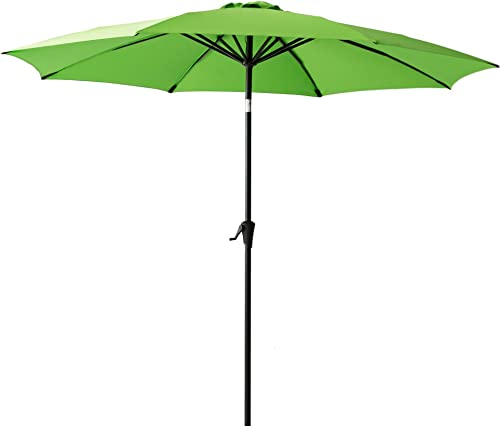 FLAME SHADE 10 Outdoor Market Umbrella with Tilt for Outside Patio Table Deck Yard or Pool Terrace, Apple Green
