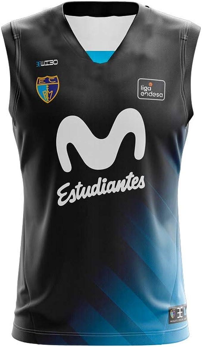 Movistar Estudiantes Camiseta Juego Temporada 19/20 Visitante Segunda Equipación Negra: Amazon.es: Ropa y accesorios