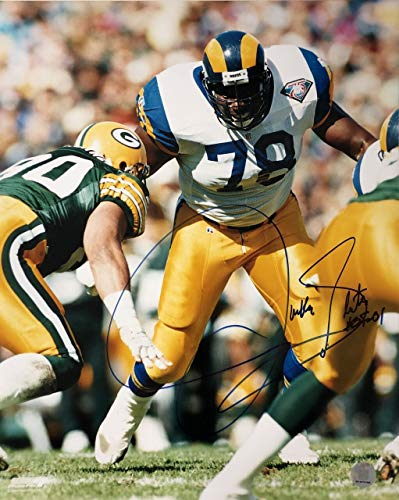 Jackie Slater Los Angeles Rams 16-1 16x20 Autographed Photo - Certified Authentic ()