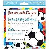 16 X Boys Birthday Invite Party Invitations With Football Design