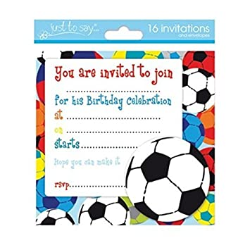 16 x boys birthday invite party invitations with amazon 16 x boys birthday invite party invitations with football design stopboris