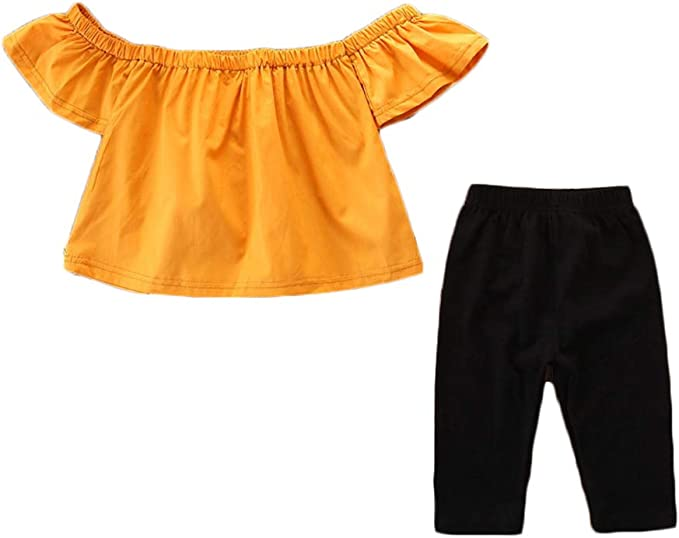 Niña Camiseta Mangas Corta Color Sólido De Camisa Tops + Falda A ...