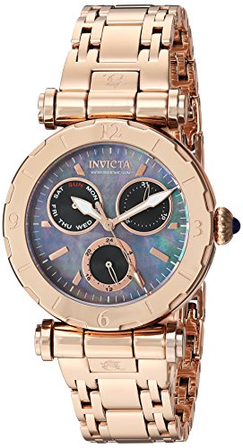 Invicta Women's 'Subaqua' Quartz Stainless Steel Casual Watch, Color:Rose Gold-Toned (Model: 24429)