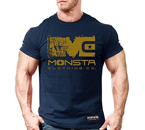 Icon Slim T-shirt - Monsta Clothing Co. (Navy/Gold) MC-Icon-253 T-Shirt 3XL