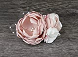 Wedding Bridal Blush Pink And Ivory Hair Clip Hair Comb Brooch Flower Accessory