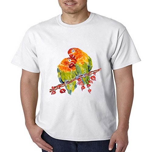 Yoda Signed - PoppyMack Art Birds Signed Compressions Funny Running Round Short Sleeve Mens T-shirt Size L