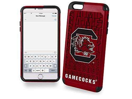 South Carolina Gamecocks Collectibles (NCAA South Carolina Fighting Gamecocks Dual Hybrid Ai6 TPU Cover (2 Piece), Large, Red)