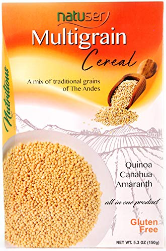 Nutritional Value Pack - MULTIGRAIN CEREAL (Quinoa - Canahua - Amaranth) - Gluten Free - No added Sugar - Great Taste - High Nutritional Value - High Protein Intake - Rich in Amino Acids and Bioactive Compounds - 5.3 Oz.