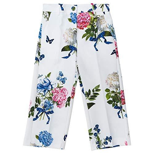 Monnalisa Pantalone Bianco Fiori Cropped Stampa wwvqar