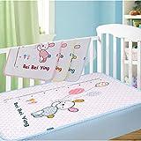 JanLEEsi Toddler Mattress Pads 1-Pack Baby Waterproof Isolation Pad,Large