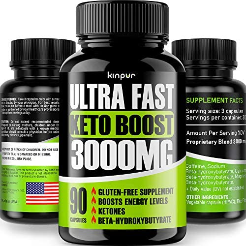 Keto Boost 5X Potent Diet Pills – Best Keto Burner for Men Women that Works Fast – Thermogenic Weight Loss with Exogenous BHB Ketones for Night Time Burning – Hardcore Energy Booster Made in the USA