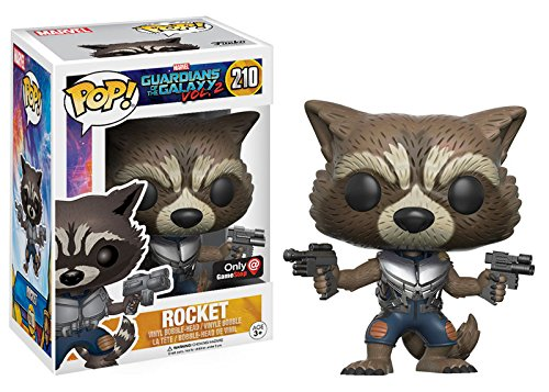 Funko Pop Vinyl Marvel Guardians of the Galaxy Vol. 2 Rocket Raccoon Exclusive Bobblehead Figure 210