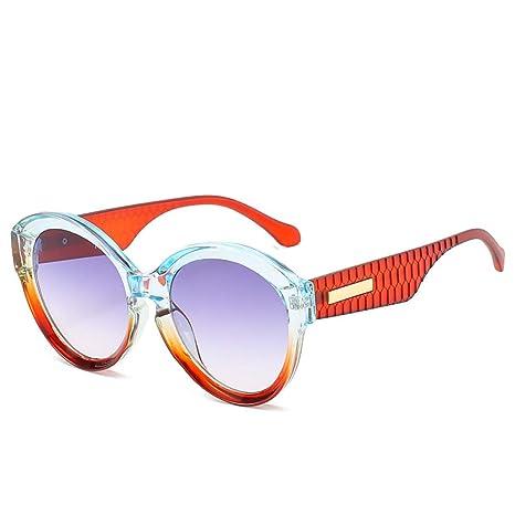 Yangjing-hl Gafas de Sol con Montura Redonda Gafas de Sol de ...