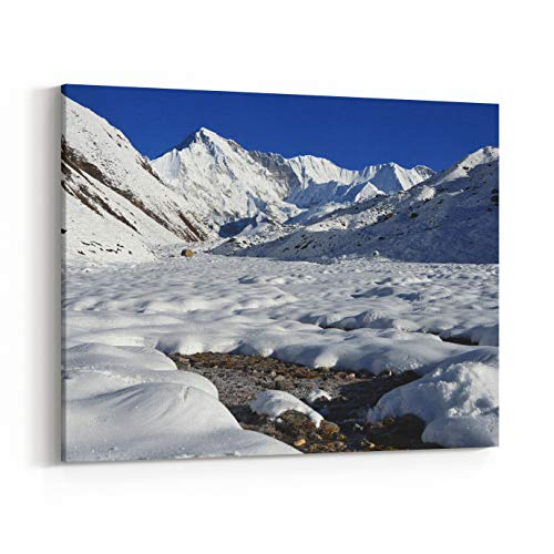 Rosenberry Rooms Canvas Wall Art Prints - Nepal, Himalayas, Peak Cho Oyu, Meters Above Sea Level (14 x 11 inches)
