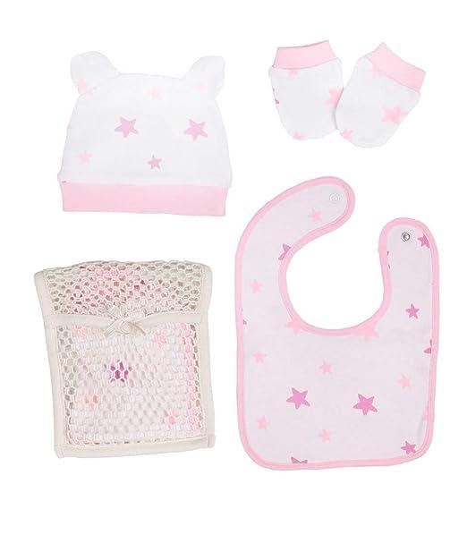 Amazon.com: Accesorios Set 3 Piezas/Bebé Bib-Baby Mittens ...