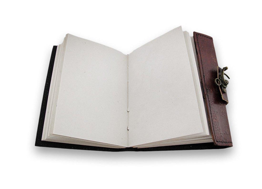 25 cmFatto a mano Grande Diario pelle rilievo con pietra celtica blu lapislazzuli con la fibbia regalo diario personale per uomini donne