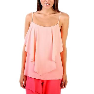 79bcc73ef7d Womens Boho Cami Frill Top Sleeve Swing Ladies Strappy Vest Rose Skin (8,  Black): Amazon.co.uk: Clothing
