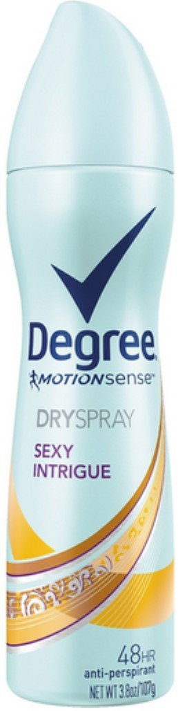 Degree MotionSense Dry Spray Antiperspirant, Sexy Intrigue 3.8 oz (Pack of 10)
