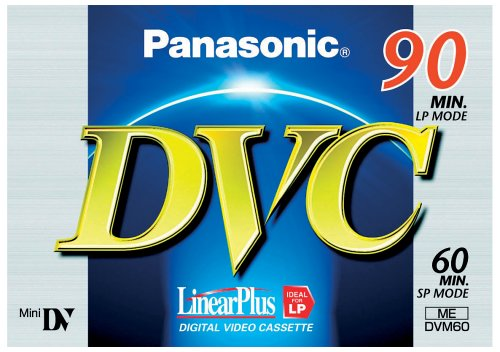 Price comparison product image Panasonic Dvm60Fe Dv Tape For Dv Cameras, 60 Minute Playing Time