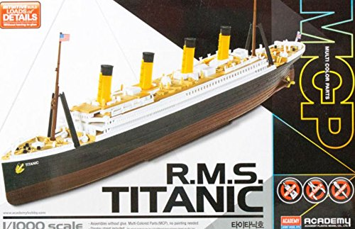 Academy Model Kit (1:1000 Academy R.m.s. Titanic Mcp (multi Color Parts) Plastic Model Kit)