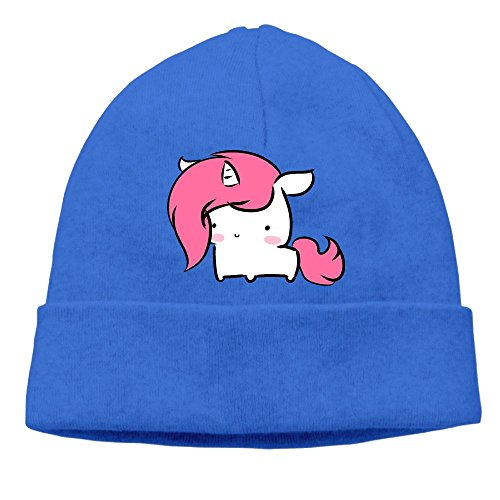 Uchengqumi Men/Women Cute Baby Unicorn Unisex Cool Fashion Hedging Hat Wool Beanie Skull Cap Headwear Royalblue ()