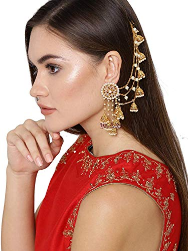Traditional Indian Gold Jewelry - YouBella Ethnic Jewelry Bollywood Traditional Indian Earrings for Women and Girls