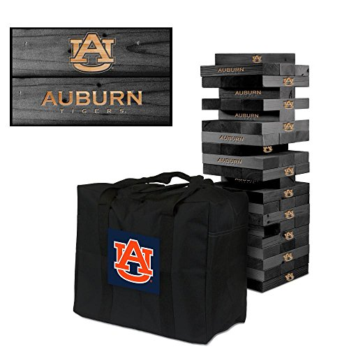 NCAA Auburn Tigers 850317Auburn University Tigers Onyx Stained Giant Wooden Tumble Tower Game, Multicolor, One Size by Victory Tailgate