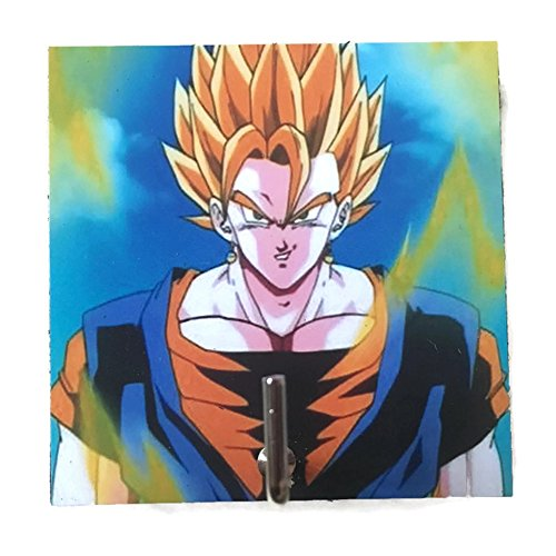 Agility Bathroom Wall Hanger Hat Bag Key Adhesive Wood Hook Vintage Blue Super Saiyan Goku Dragon Ball's Photo (Ex Pub Furniture)