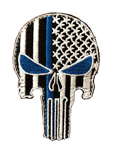 - Punisher Blue Eyes Thin Blue Line Morale Patch Police Law Enforcement