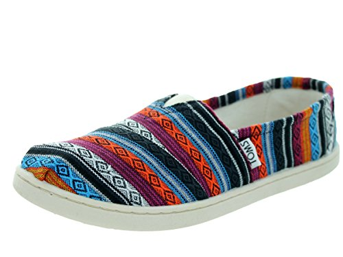 Toms Kids Classic Blue Woven Textile Casual Shoe 4.5 Kids US