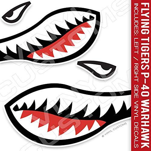 Flying Tigers Shark Mouth Die-Cut Vinyl Decal ()