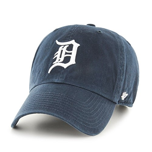 (MLB Detroit Tigers Clean Up Adjustable Cap (Navy) (For Adults))