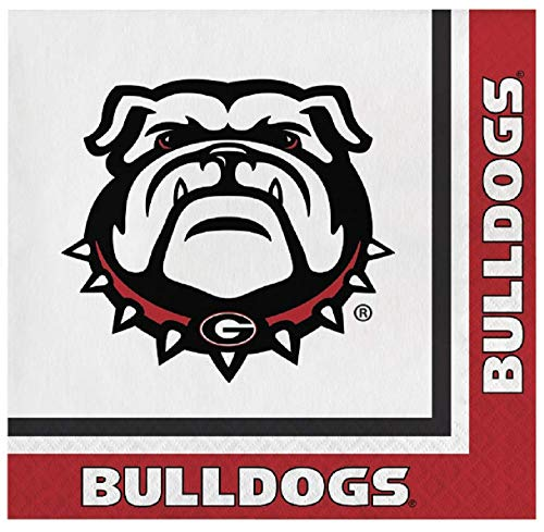 - Georgia Bulldogs Lunch Napkins, 60 Count