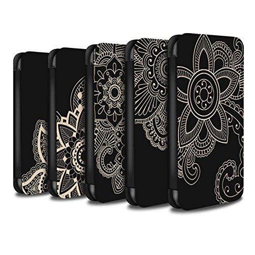 Stuff4 Coque/Etui/Housse Cuir PU Case/Cover pour Apple iPhone 5C / Pack 5pcs Design / Tatouage au Henné Collection