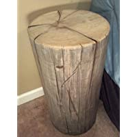 Rustic Weathered Gray Poplar Stump Table ~ Bedside Table Sofa Table Bar Stool Stump Stool - 8-9 diameter Custom Heights Available - 18-27 Tall