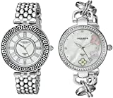 Akribos XXIV Women's AK886SS Quartz Movement Analog Display Watch Gift Set