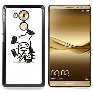 - Happy Unicorn - - Cubierta del caso de impacto con el patr??n Art Designs FOR Huawei Mate 8 Queen Pattern
