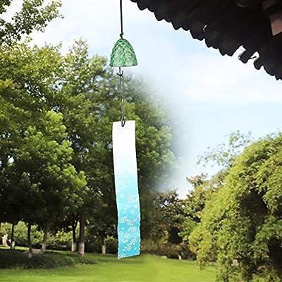 Ichiias Wind Chimes, Metal Hanging Wind Chimes Hogar Jardín Patio Trasero Decoración Adorno Verde: Amazon.es: Jardín