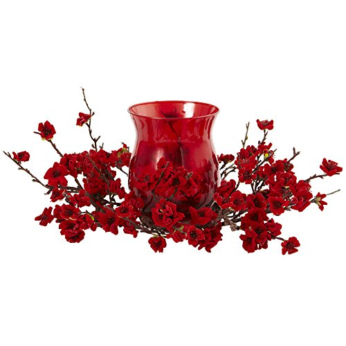 - Nearly Natural Plum Blossom Candelabrum