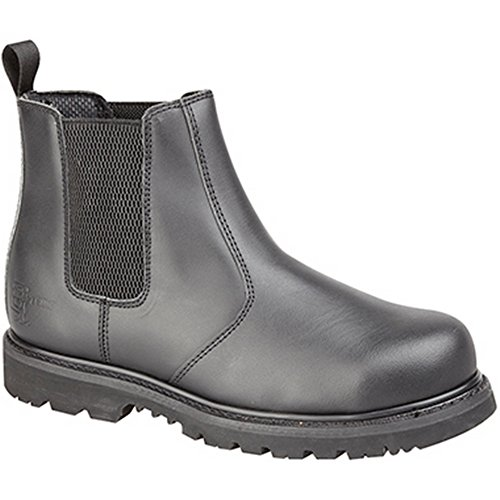 Grafters Grafters Black Pull On Safety Boot, Stivali uomo