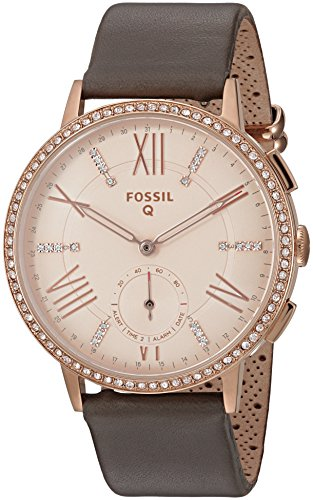 Fossil Q Gazer Gen 2 Women's Gray Leather Hybrid Smartwatch FTW1116 by Fossil