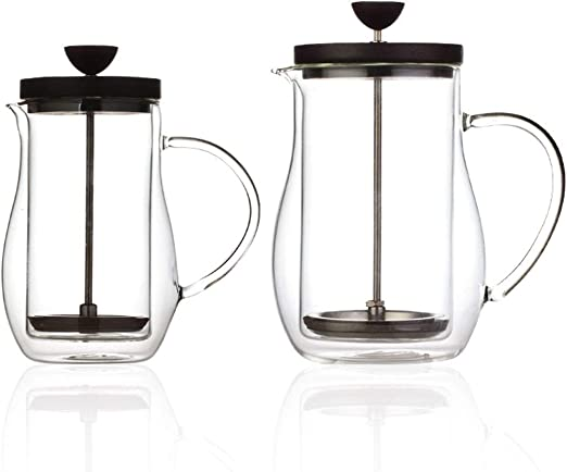 HoneyJuan Cafetera Hervidor de Agua Cafetera 600ml French Press ...