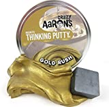 """Gold Rush with Magnet Magnetic Crazy Aaron's Thinking Putty lg 4"""" tin, Made in USA, Age 14+"""